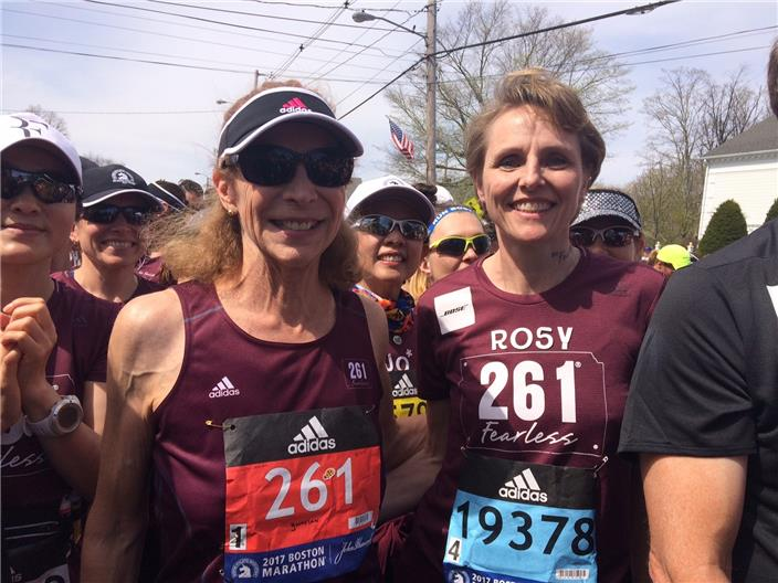Kathrine Switzer at Boston Start Copyright